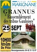 Grannus le village Gaulois - affiche officielle mairie de Marignane -
